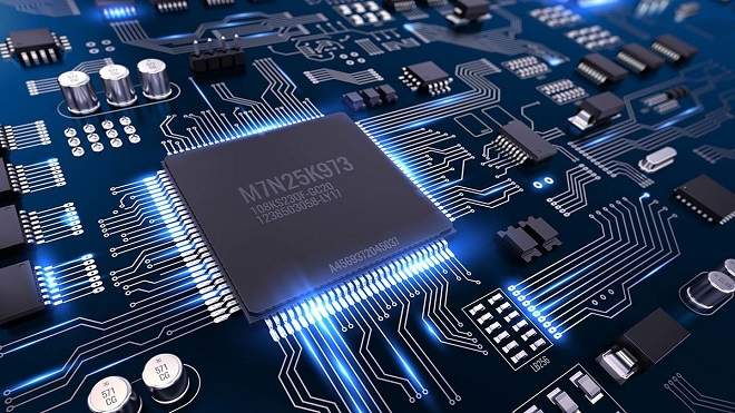 High,Tech,Electronic,Pcb,(printed,Circuit,Board),With,Processor,And